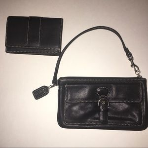 Coach Wristlet and Car Holder